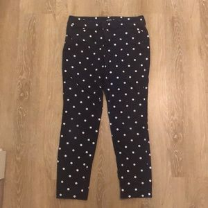 Polka dot ankle length pants